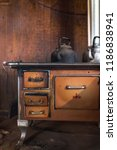 Rustic Old Stove With Smoky...
