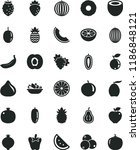 solid black flat icon set a... | Shutterstock .eps vector #1186848121