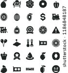 solid black flat icon set... | Shutterstock .eps vector #1186848187