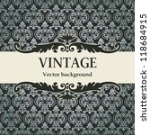 vintage vector background | Shutterstock .eps vector #118684915