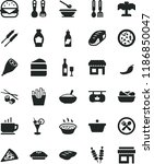 solid black flat icon set... | Shutterstock .eps vector #1186850047