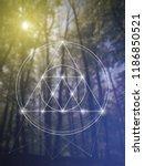 interlocking circles  triangles ... | Shutterstock .eps vector #1186850521