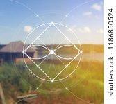 interlocking circles   squares... | Shutterstock .eps vector #1186850524
