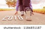 2019 symbolises the start into... | Shutterstock . vector #1186851187