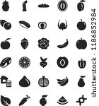 solid black flat icon set... | Shutterstock .eps vector #1186852984
