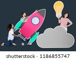 cloud storage and innovation... | Shutterstock . vector #1186855747