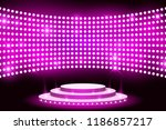 wall led light screen stage... | Shutterstock .eps vector #1186857217