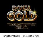 vector royal gold unique font.... | Shutterstock .eps vector #1186857721