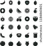 solid black flat icon set jam... | Shutterstock .eps vector #1186860601