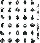 solid black flat icon set apple ... | Shutterstock .eps vector #1186860667