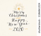 handmade style greeting card  ... | Shutterstock .eps vector #1186861324