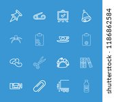 clip icon. collection of 16... | Shutterstock .eps vector #1186862584