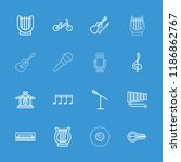 musical icon. collection of 16... | Shutterstock .eps vector #1186862767