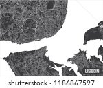 minimalistic lisbon city map... | Shutterstock .eps vector #1186867597