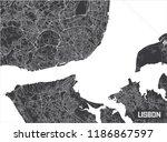 minimalistic lisbon city map...   Shutterstock .eps vector #1186867597