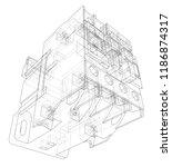 automatic circuit breaker...   Shutterstock .eps vector #1186874317
