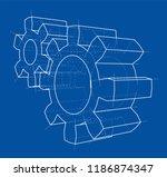 3d gear wheel. vector rendering ... | Shutterstock .eps vector #1186874347