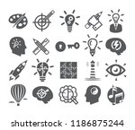 creativity icons set. icons for ... | Shutterstock . vector #1186875244