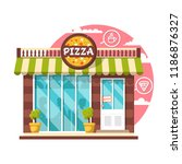 pizza cafe concept. flat design ... | Shutterstock .eps vector #1186876327