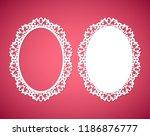 laser cut vector abstract oval...   Shutterstock .eps vector #1186876777