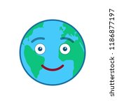 smiley world globe isolated...