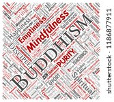 vector conceptual buddhism ... | Shutterstock .eps vector #1186877911