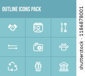 universal icon set and photo...