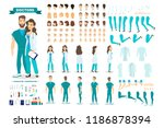 doctor couple character set for ... | Shutterstock .eps vector #1186878394