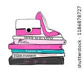 vector fashion illustration.... | Shutterstock .eps vector #1186878727