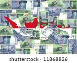 indonesia map with collage of... | Shutterstock . vector #11868826