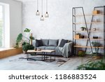 interior of modern living room... | Shutterstock . vector #1186883524