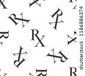 medicine symbol rx prescription ... | Shutterstock .eps vector #1186886374