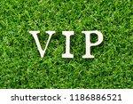 wood letter in word vip ... | Shutterstock . vector #1186886521