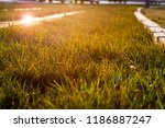 sunset is happening and the... | Shutterstock . vector #1186887247