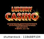 vector  red and gold luxury... | Shutterstock .eps vector #1186889104