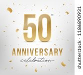 50th anniversary celebration... | Shutterstock .eps vector #1186890931
