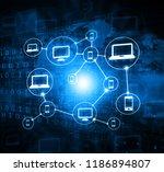 cloud computing background...   Shutterstock . vector #1186894807