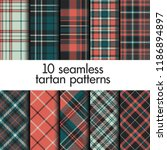 set of seamless tartan patterns | Shutterstock .eps vector #1186894897
