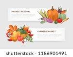 set of horizontal web banner... | Shutterstock .eps vector #1186901491