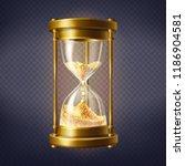 vector realistic hourglass ... | Shutterstock .eps vector #1186904581