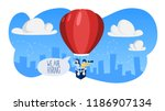 we are hiring. people on the... | Shutterstock .eps vector #1186907134