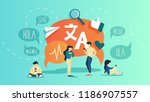 online translator in mobile... | Shutterstock .eps vector #1186907557