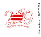 happy new 2019 year with flag... | Shutterstock .eps vector #1186909024