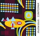 seamless futuristic pattern.... | Shutterstock .eps vector #1186910464