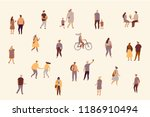 different people vector set... | Shutterstock .eps vector #1186910494