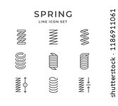 set line icons of spring | Shutterstock .eps vector #1186911061