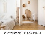 white apartment interior with... | Shutterstock . vector #1186914631