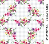 hand painted watercolor pattern ...   Shutterstock . vector #1186915381