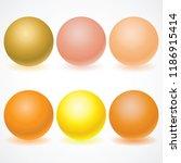 set of multicolored spheres...   Shutterstock .eps vector #1186915414