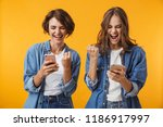 image of happy excited young... | Shutterstock . vector #1186917997